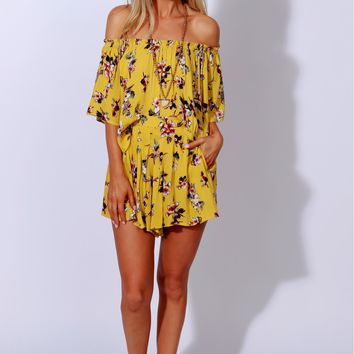 Freshly Picked Print Shorts Lemon