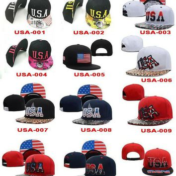 2015 new USA Flag Patch USA American Patriotic Polo Style ADJUSTABLE SNAPBACKs Basebal