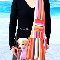 FREE SHIPPING - New Colorful Canvas Pet Sling Dog  Carrier