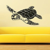 Wall Decal Vinyl Sticker Decals Turtle Tortoise Tortoiseshell Ocean Sea Bathroom Wall Decor Wall Stickers Home Decor Art Bedroom Design Interior Mural C556