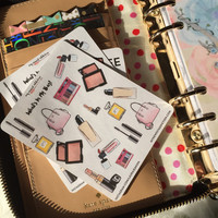 What's In My Bag Stickers! Makeup and handbags