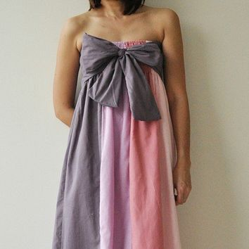 The Line Part II Pink Purple Maxi Cotton dress by aftershowershop
