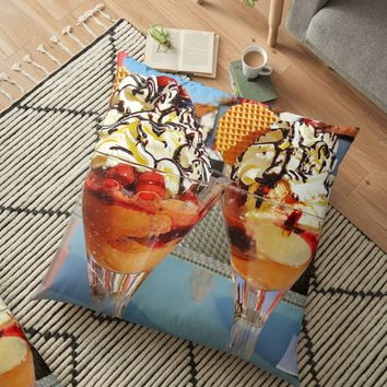 'ICE CREAM SUNDAES' Floor Pillow by IMPACTEES
