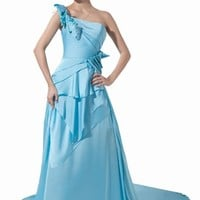 Dressystar Satin Prom Dress Long Evening Gown for Women