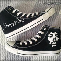 DCCK1IN jimi hendrix custom converse painted shoes