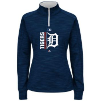 DCCKG8Q MLB Detroit Tigers Women's Quarter Zip Pullover