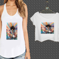 Colorful Jimi Hendrix Painting For Woman Tank Top , Man Tank Top / Crop Shirt, Sexy Shirt,Cropped Shirt,Crop Tshirt Women,Crop Shirt Women S, M, L, XL, 2XL*NP*