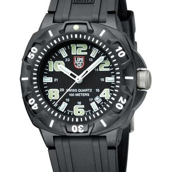 Luminox Mens Sentry Sports Watch - Black Dial & Strap - Luminous Hands & Markers