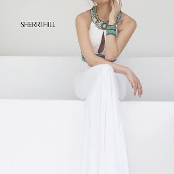 2014 Sherri Hill Jersey Fitted Homecoming Dress 11173