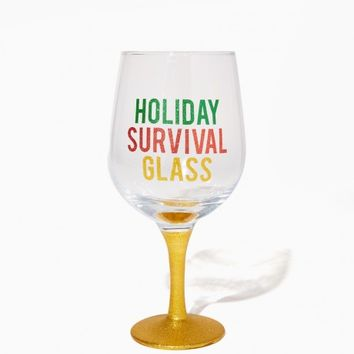 Holiday Survival Wine Glass | Charming Charlie