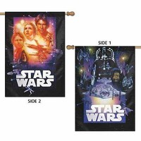 "REBELS & EMPIRE STAR WARS 28""X40"" 2-SIDED BANNER FLAG NEW WINCRAFT"