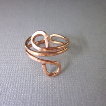 Adjustable Copper Wire Wrap Finger Toe Ring