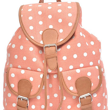 Simple Dotted Backpack