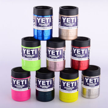 New 12 Color YETI Mugs Stainless Steel Tumbler Double Travel Insulated Mug Handle Car Coffee Cup With Lid Capacity Cups Mugs