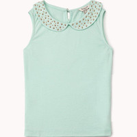 Studded Peter Pan Collar Top