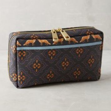 Miss Albright Friendly Fox Cosmetic Case in Navy Size: One Size Bags