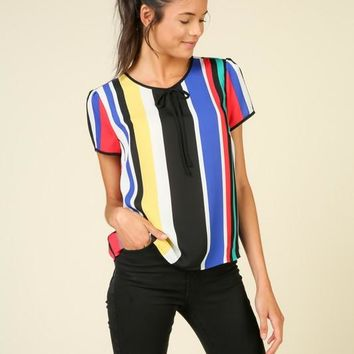 Leslie Colorful Striped Top