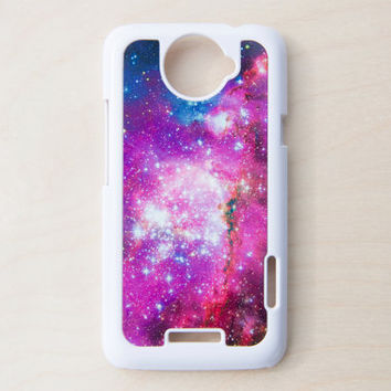 Space Galaxy HTC One X Case New Cell Phone Pink Blue Hubble