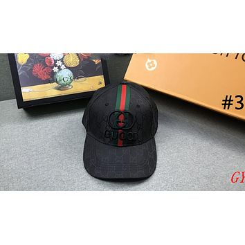 GUCCI street fashion men and women models wild fashion embroidery logo baseball cap #3