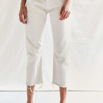 Urban Renewal Recycled Levis Frayed Jean - White - Urban Outfitters