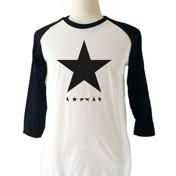 David Bowie Ziggy Stardust Shirt Long Sleeve 3/4 Baseball Raglan T-Shirt