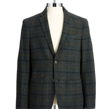 Black Brown 1826 Plaid Tweed Jacket