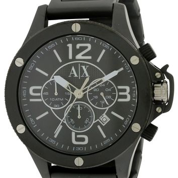 Armani Exchange Black Stainless Steel Chronograph Watch AX1503