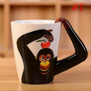 Soledi Coffee Mug Tea Creative Animals Ceramic Cups Milk Juice Lemon Handle Mug New Fashion 400ml 3D Coffee Drinkware