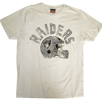 Oakland Raiders NFL Junk Food Vintage Style Football Adult T-Shirt Tee Select Shirt Size: Small