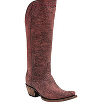 Lucchese Vera Tall Western Boots - Black Cherry