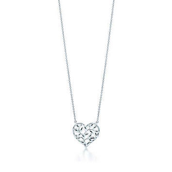 Tiffany & Co. - Paloma Picasso® Olive Leaf heart pendant in sterling silver.
