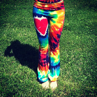 RAINBOW HEART Yoga Pants Classic Collection