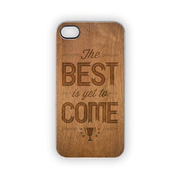 iPhone Case, 5, 4S/4, Best Faux Wood Case, Earthy, Hope, Protective, Rustic, Woodland, Outdoors, Men, Him, Her, Country, Trophy