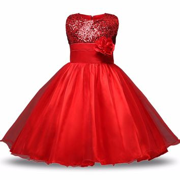 Princess Flower Girl Dress Wedding Birthday Party Dresses For Girls Children's teenagers dress Birthdays Clothing kids clothes