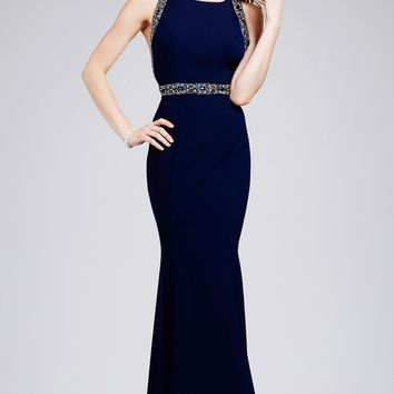Fitted Jersey Dress 28460 - Prom Dresses