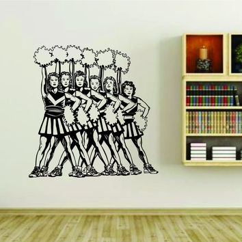 Cheerleader Cheerleaders Cheer Version 118 Vinyl Wall Decal Sticker