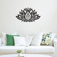 Lotus Flower Yoga Wall Decals Vinyl Art Mural Bedroom Wall Sickers Home Decor