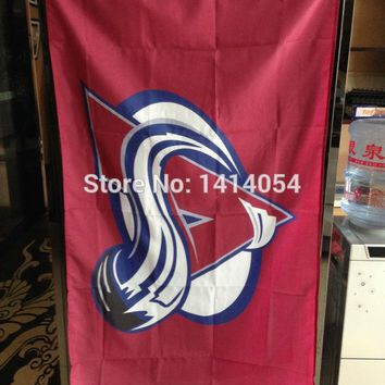 Colorado Avalanche logo Flag 150X90CM  NHL 3X5 FT Banner 100D Polyester flag grommets 001, free shipping