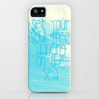 Dancing On The Sea iPhone Case by Ally Coxon | Society6
