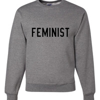 SALE ITEM!!! FEMINIST. (3XL Crewneck--Ash)