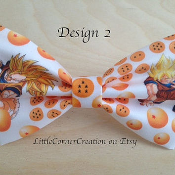 Dragon Ball Z Inspired Hair Bow  or Bow Tie