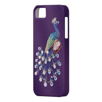 Peacock Digital Jewels Purple iPhone 5 Case from Zazzle.com