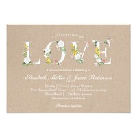 Floral Love Wedding Invite