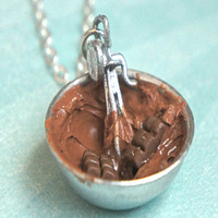 chocolate ganache icing necklace