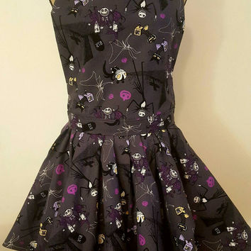 Nightmare before Christmas - Jack Skellington -  pinup-rockabilly- style apron