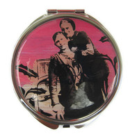Bonnie and Clyde Compact Mirror Pocket Mirror by UniqueArtPendants