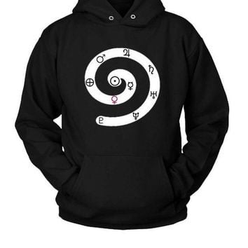 Solar System Symbols Of Planets Hoodie Two Sided