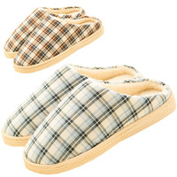 Water Plaid Printed Slippers