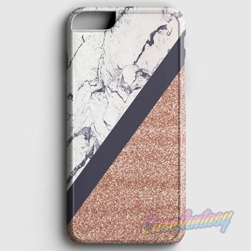Blue & Rose Gold Marble iPhone 8 Plus Case | casefantasy