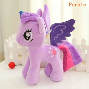 20cm Anime plush Unicorn Toy Kawaii Ty Beanie Unicornio pelucia Toy horse Rainbow Pony Toys for Children Licorne eenhoorn pluche